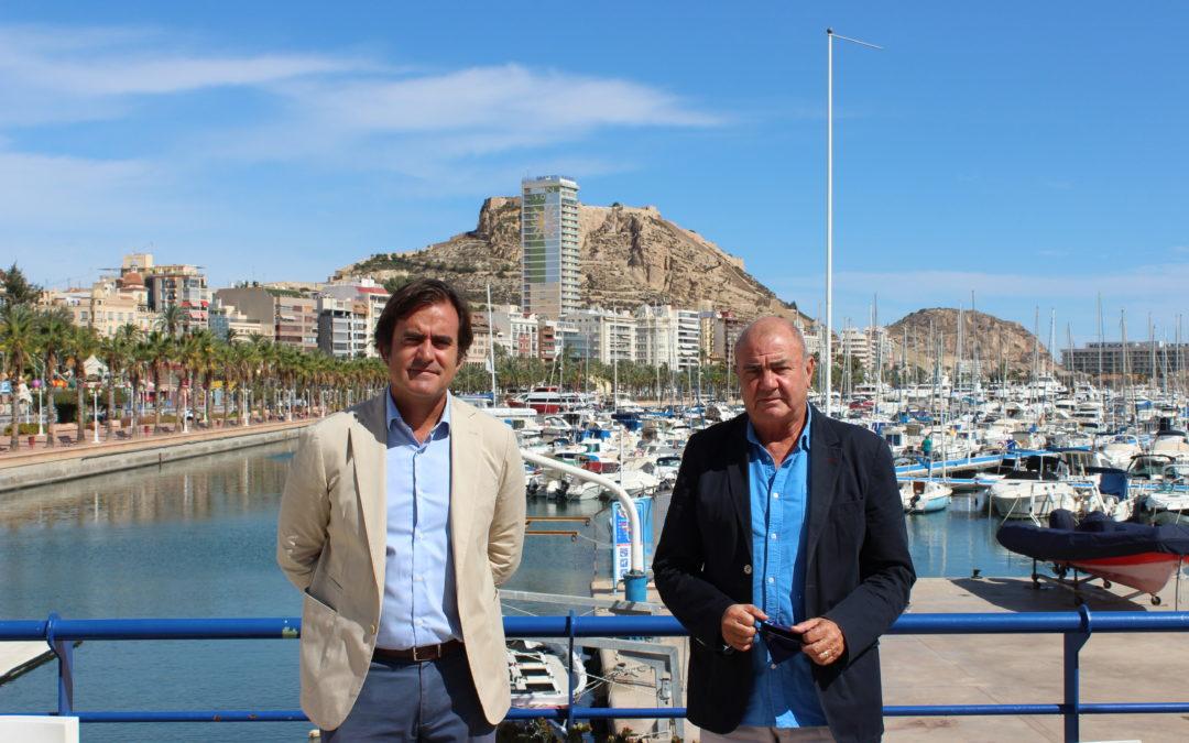 El Real Club de Regatas de Alicante y SPTCV, firman un convenio de colaboración por la digitalización del sector náutico de Alicante.